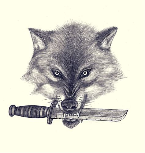 wolf with knife by mniiiv on deviantart