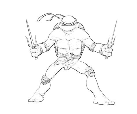 raphael turtle coloring pages
