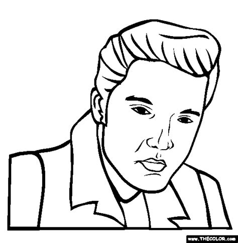 elvis colouring pages