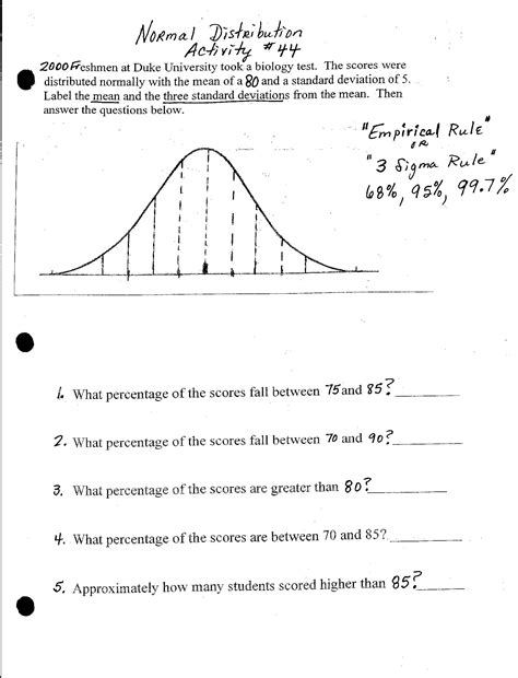 Distribution Worksheet by Pictures Normal Distribution Worksheet Getadating