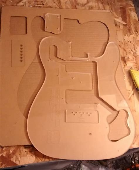 telecaster template custom guitar building routing template telecaster deluxe