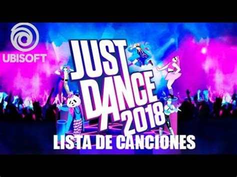 lista de canciones oficial just dance 2018 official