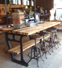 Industrial Kitchen Furniture Vintage Iron And Wood Worktable 171 Jennifer Price Studio
