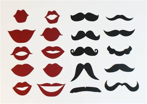 free printable mustache and lips photo booth props lips mustache template clipart best