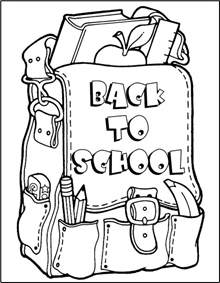 school coloring pages back to school coloring page