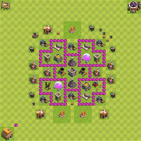 layout level 6 town hall clash of clans town hall level 6 farming layout www