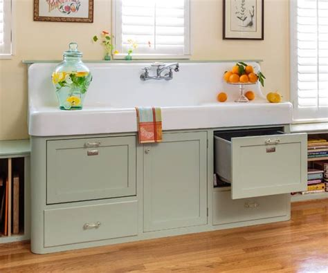 Retro Cabinets Kitchen Cottage Kitchen With Retro Flair
