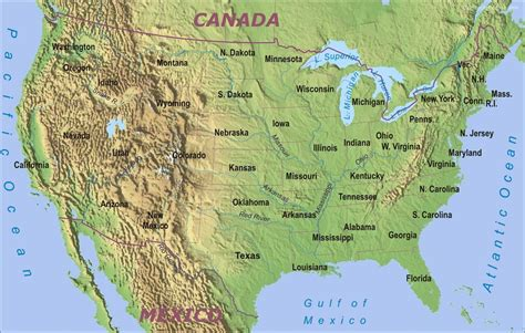america geographic map stock photos of geographical map of united states