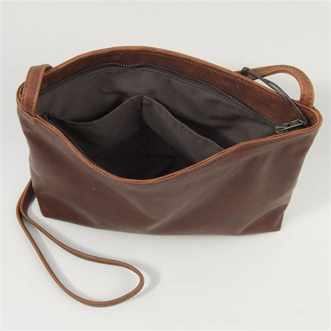Handmade Leather Bags Uk - the softy bag henry tomkins