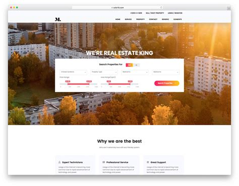 21 Best Free Real Estate Website Templates For Successful Realtors 2018 One Page Real Estate Website Templates