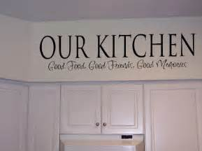 Kitchen Cabinet Quotes Kitchen Wall Quotes And Sayings Quotesgram