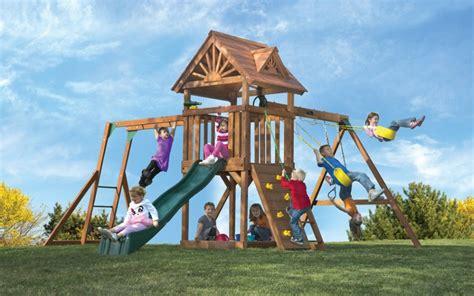 swings for big kids kids cedar playset with monkey bars high flyer deluxe