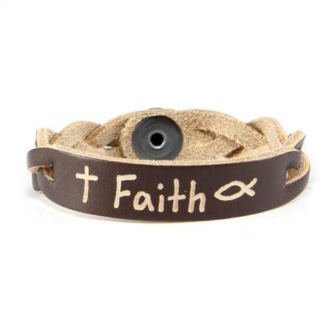 faith inspirational bracelet personalized leather bracelets
