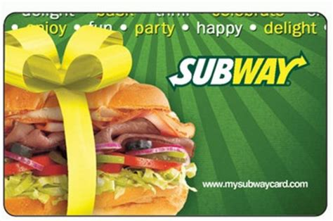 5 Dollar Subway Gift Card - hot free 5 subway gift card free shipping