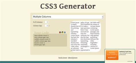rgba color generator minimalist css3 generator free website tools