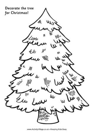 printable make your own tree topper tree colouring pages