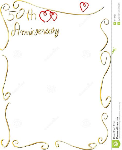 Wedding Anniversary Borders by 50th Anniversary Hearts Clipart Clipart Suggest