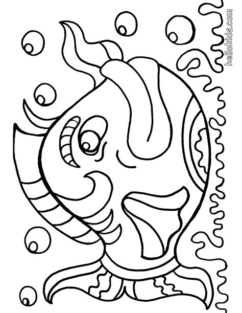 fish coloring pages  kids