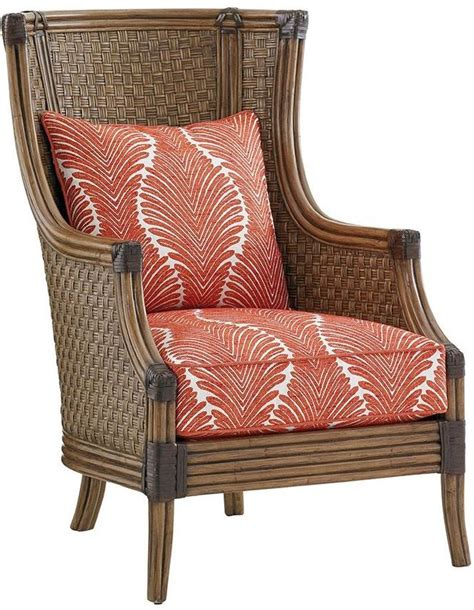 leaf pattern chair twin palms coral ivory leaf pattern reef chair 01 1882 11