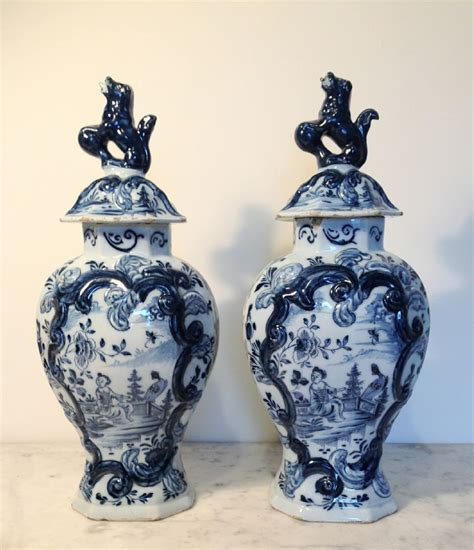 Delft Vase Markings by Pair Delft Vases Factory Marks Of Jan Der Wall