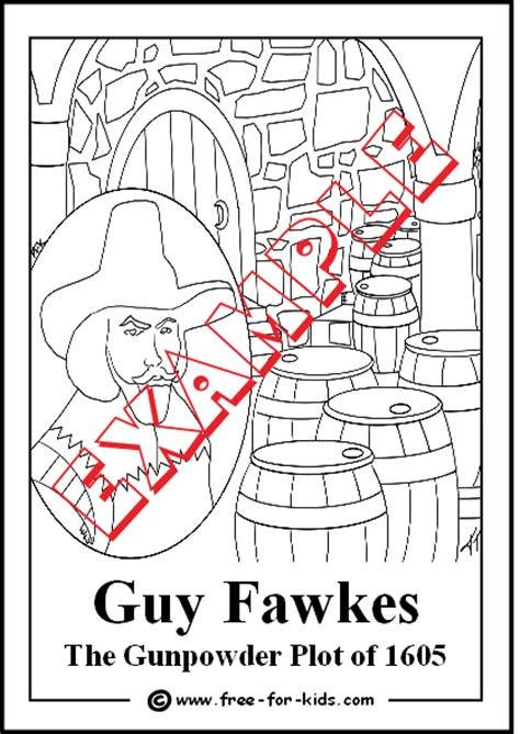 Guy Fawkes Coloring Pages Fawkes Colouring Pages