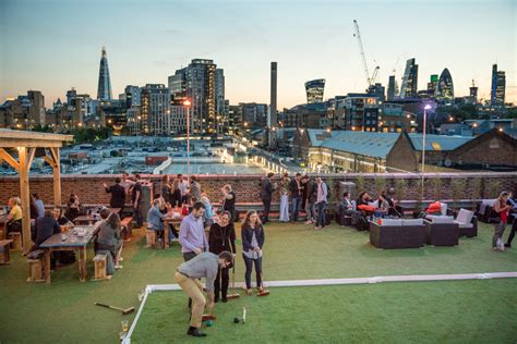 skylight rooftop bar launches at tobacco dock cocktails