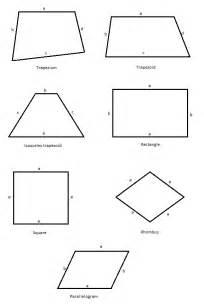 quadrilaterals free math worksheets