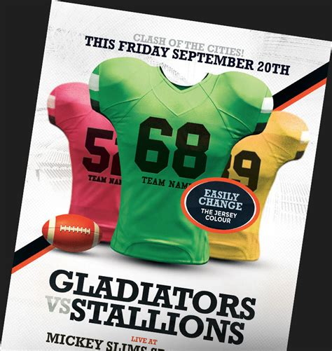 american football flyer templates for football events