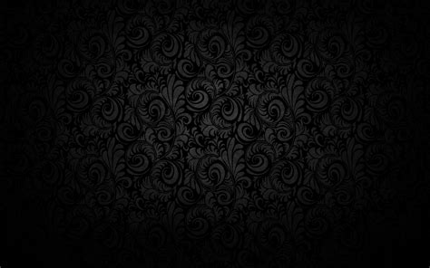 Black Floor Vase Black Floral Texture Pattern Design Wallpaper 1920x1200