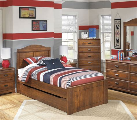 ashley furniture barchan twin panel trundle storage bed  classy home