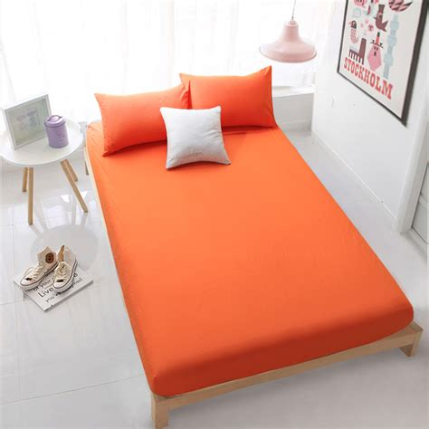 full bed sheets home textile orange fitted sheet bed sheets covers