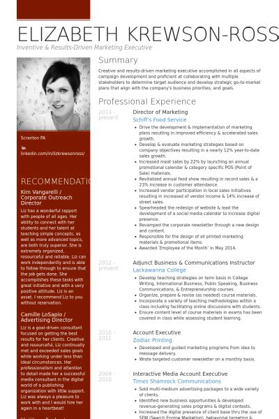 marketing cv examples and live cv samples