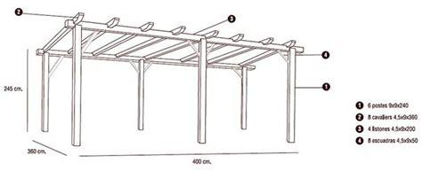 cobertizos listos para instalar 187 nortene pergola de madera 360 x 400 cm 413403