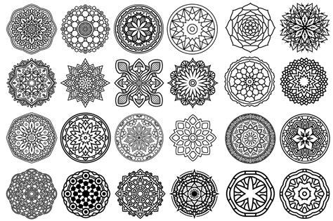 mandala pattern font 100 vector mandala ornaments by pixaroma design bundles