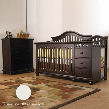 sorelle cape cod crib and changer with toddler rail sorelle cape cod 2 nursery set crib and changer