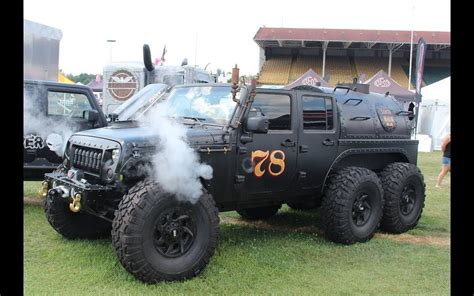 hauk designs steam jeep loco hauk steam powered jeep jk 6x6 is totally unnecessary