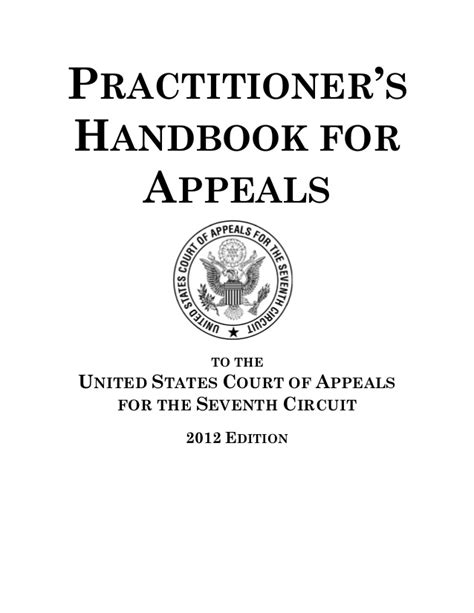 7th Circuit Search Practitioner S Handbook For Appeals To The 7th Circuit 152 Pages