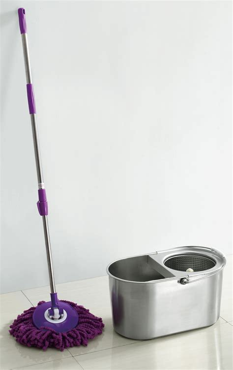 bathtub mop stainless steel 360 degree spin mop easy mop bucket