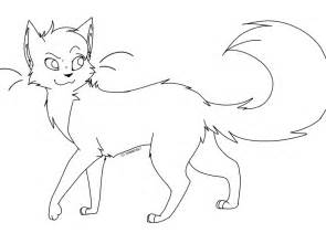 warrior cats coloring pages cat lineart by evertenn on deviantart