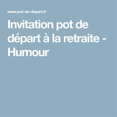 Modele Depart Retraite Humour