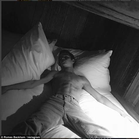 romeo beckham photoshoot romeo beckham pokes fun at brooklyn as he mocks bed snap