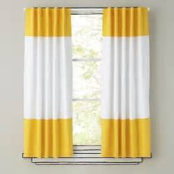 Yellow Black Out Curtains 84 Quot Color Edge Curtain Panel Yellow The Land Of Nod