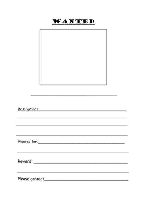 template ks1 wanted poster template by joeroberts89 teaching