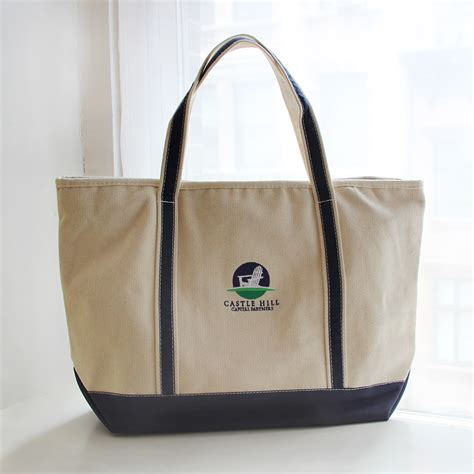 Embroidered Tote Bag embroidered logo totes gouda inc