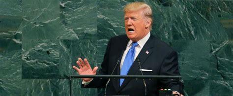 donald trump un speech reactions to trump s un speech split among party lines