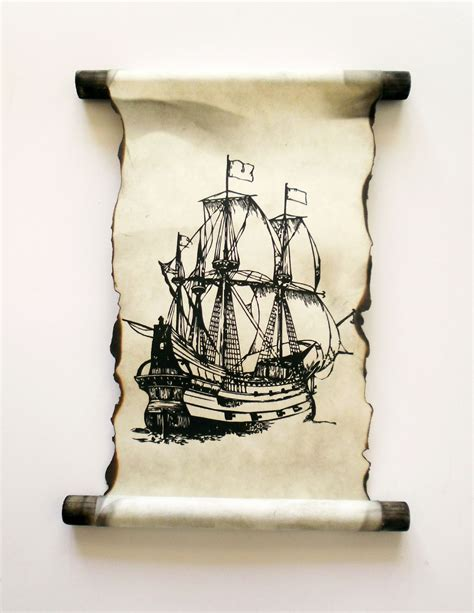 Handmade Scrolls - land of scrolls 17th century ship scroll handmade