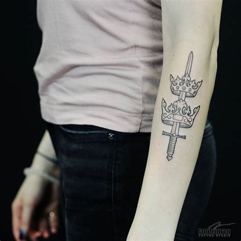 black work tattoo 40 flaunt your sense of sophistication with these sword