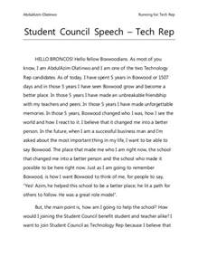Student Council Sle Speeches 25 best ideas about student council speech on