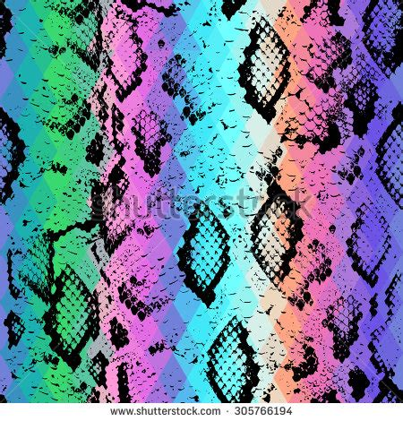 triangle pattern snake snake skin texture with colored rhombus geometric