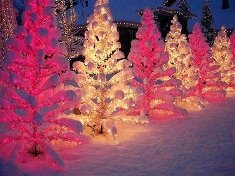 pink white christmas tree lights my pink christmas